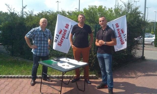 (Od lewej) Adam Pawłowski, Tomasz Ryba i Mateusz Wilczak - założyciele nowego związku w ZG Janina