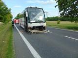 Kwilcz. Zderzenie autobusu i dwóch samochodów osobowych na drodze krajowej nr 24 na wysokości Pólka