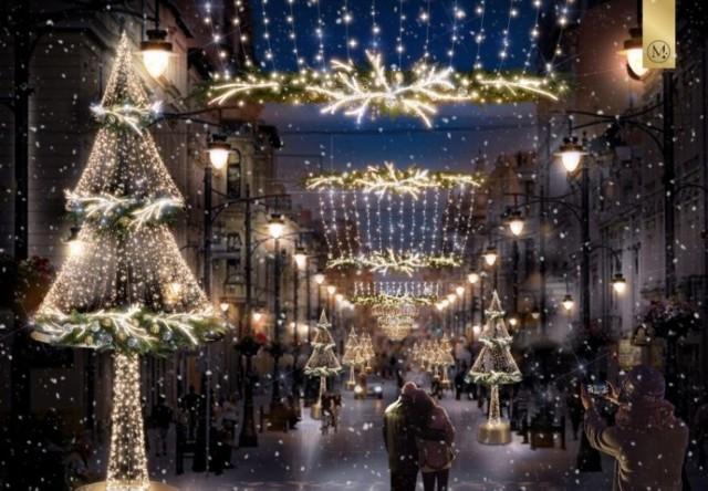 Już rozpoczęły się prace nad montażem świątecznej iluminacji na ul. Piotrkowskiej. Zostanie włączona 1 grudnia i ma wisieć do końca stycznia.   Zobacz ZDJĘCIA, czytaj na kolejnych slajdach