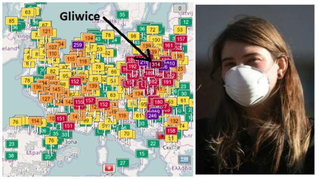 Alarm smogowy w woj. śląskim  ZOBACZ SZCZEGÓŁOWE DANE W MIASTACH NA KOLEJNYCH SLAJDACH >>>