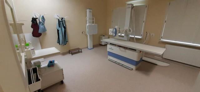 Pracownia RTG w Krośnie Odrzańskim została już wyremontowana, a nowy rentgen jest dostępny dla pacjentów.