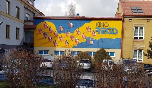 Mural na Kinie Regis w Bochni, jedna z inwestycji w ramach Budżetu Obywatelskiego Bochni