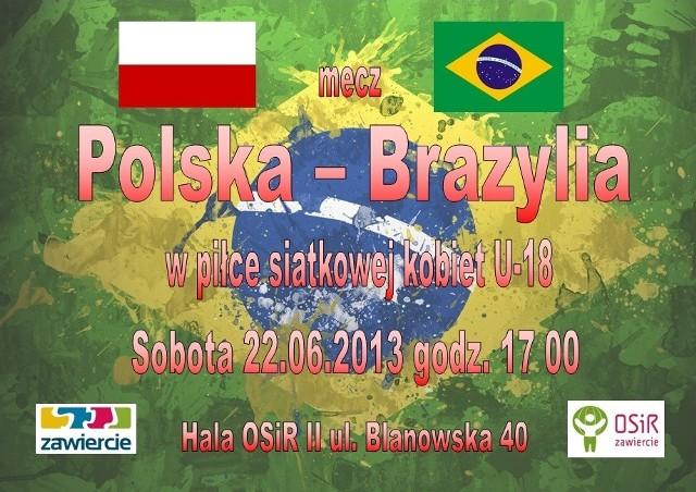 Reprezentacja Brazylii w Zawierciu zmierzy się z reprezentantkami Polski.