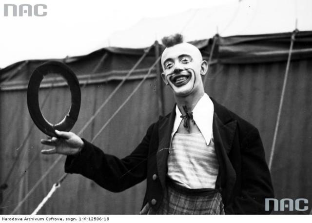 Clown cyrkowy.