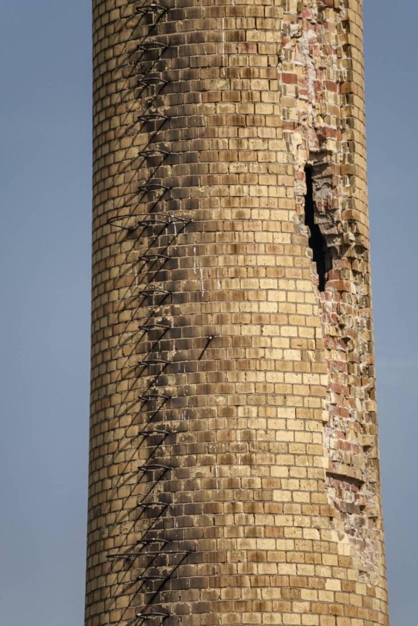 Tak wyglądał komin w Wałowicach dwa lata temu, kiedy podczas...
