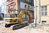 Budowa nowej siedziby Itaki w Opolu. Część zabudowań dawnego banku PKO wyburzona