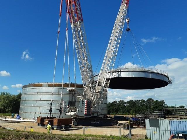 Kolejny etap budowy bazy paliw w Boronowie zakończony
