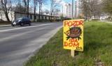 Mysłowiczanin stworzył tabliczki ostrzegające kierowców przed jeżami w Katowicach i Mysłowicach. Teraz zaczynają podbijać całą Polskę
