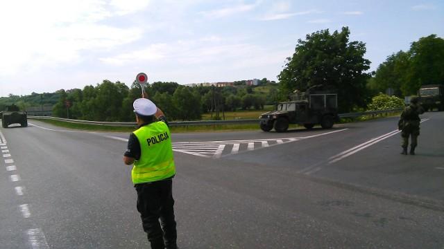 Policjanci zabezpieczali ćwiczenia Anakonda 2016