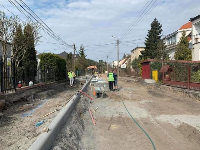 Trwają prace przy budowie ulicy Szczytowej na bydgoskim Miedzyniu.