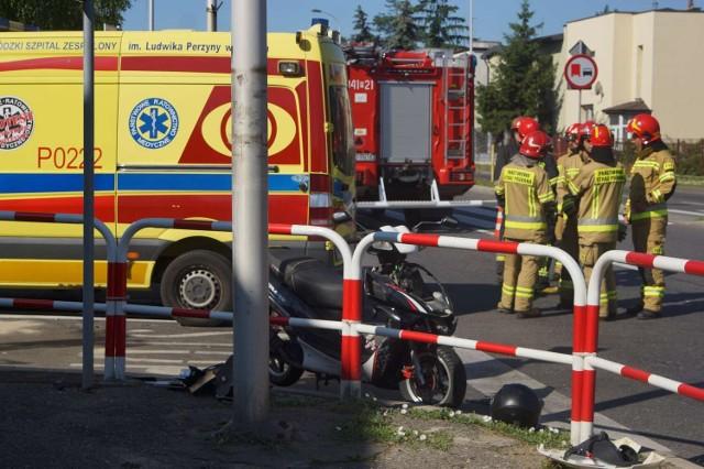 Wypadek na alei Wojska Polskiego w Kaliszu. Potrąciła autem motorowerzystę
