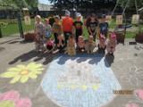 Pleszew. Powstała ogromna kolorowanka z herbem Pleszewa