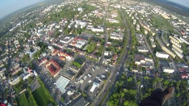 Kadr z filmu - Chełm z lotu ptaka