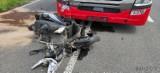 Wypadek w Ligocie Dolnej. Motocyklista uderzył w ciężarówkę. Mężczyzna nie żyje