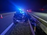 Gmina Kuślin. Wypadek na autostradzie A2 [ZDJĘCIA]