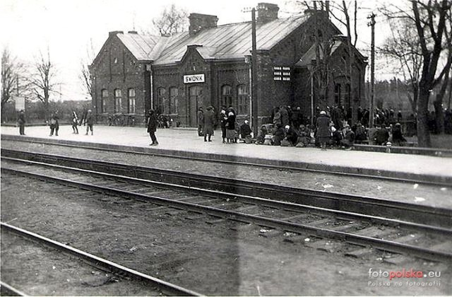 1941 r., Dworzec kolejowy w Świdniku