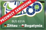 Przewozy z Zittau do Bogatyni zostaną zawieszone do 17 stycznia