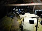 Pożar w kościele w Kierlikówce. Ogień wybuchł na poddaszu. Szybka reakcja pomogła uratować świątynię