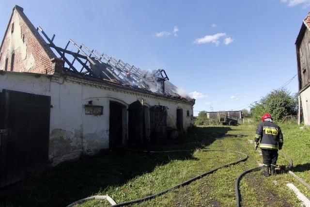 W nocy doszło do pożaru stodoły w miejscowości Płutowo (gmina Kijewo Królewskie).