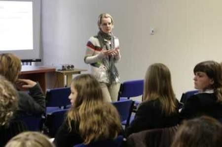 Anastazja Korzec mówiła m.in. o zaangażowaniu młodzieży.