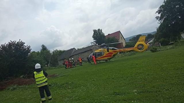 Na miejscu wypadku lądował śmigłowiec LPR