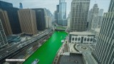 Rzeka Chicago znów zabarwiła się na zielono. Mieszkańcy miasta uczcili dzień św. Patryka (wideo)