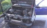 Kobylin - Pożar samochodu osobowego. ZDJĘCIA