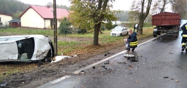 Wypadek w Małkowie