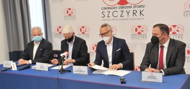 Umowa dotycząca budowy systemu naśnieżania tras biegowych na Kubalonce została podpisana w środę 12 maja.