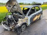 Pożar samochodu! Interweniowali strażacy z Wągrowca i Wapna