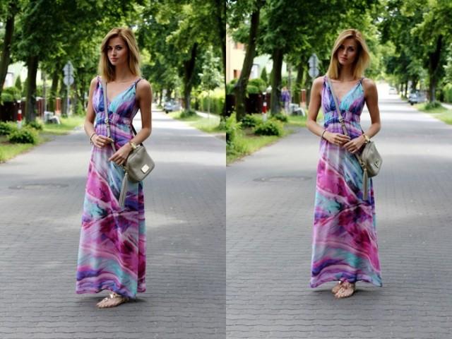 Sukienka maxi na wakacje