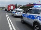 Wypadek na ulicy Częstochowskiej w Kochanowicach. Jedna osoba trafiła do szpitala