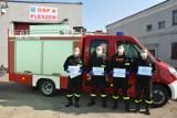 Strażacy z OSP Pleszew rozpoczęli rozwożenie pakietów z maseczkami do pleszewskich seniorów