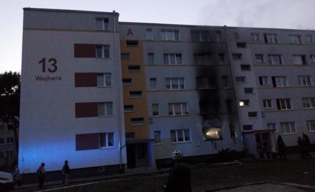 Pożar w mieszkaniu na Żabiance, 23.09.2020 r.