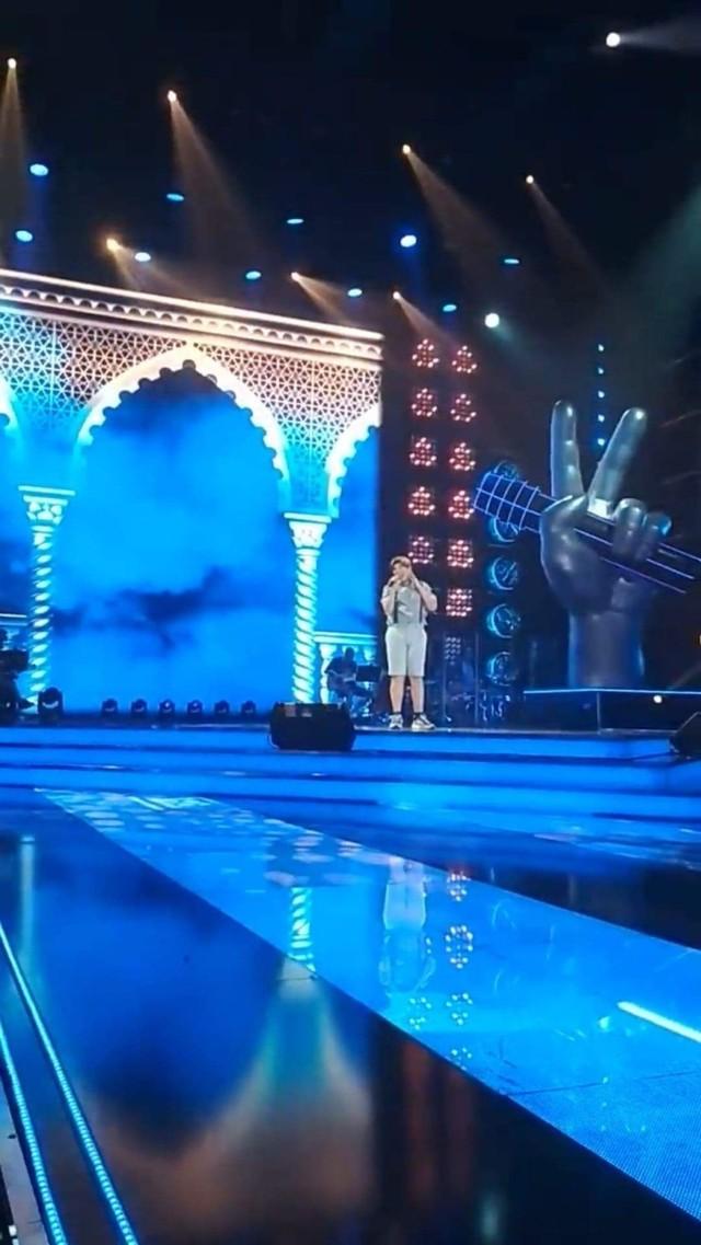 Julek na scenie The Voice Kids
