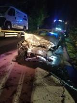 Zderzenie czołowe w Pomlewie gm. Przywidz. Wypadek [2.10.2020] Za kierownicą nietrzeźwy 22-latek bez uprawnień |ZDJĘCIA