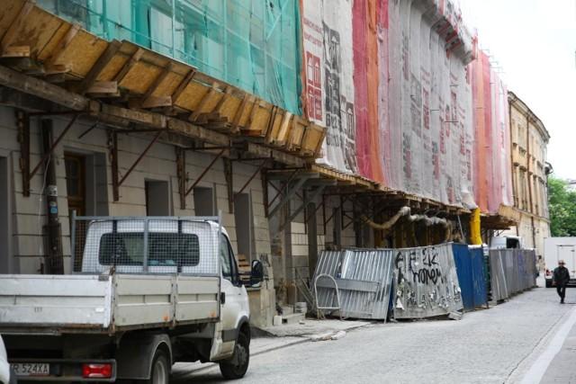 28.5.2021 krakow  budowa hotelu przy ulicy sw tomasza fot. konrad kozlowski/polskapress