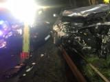 Wypadek w Koziegłowach koło Poznania - dwie osoby zostały ranne [ZDJĘCIA]