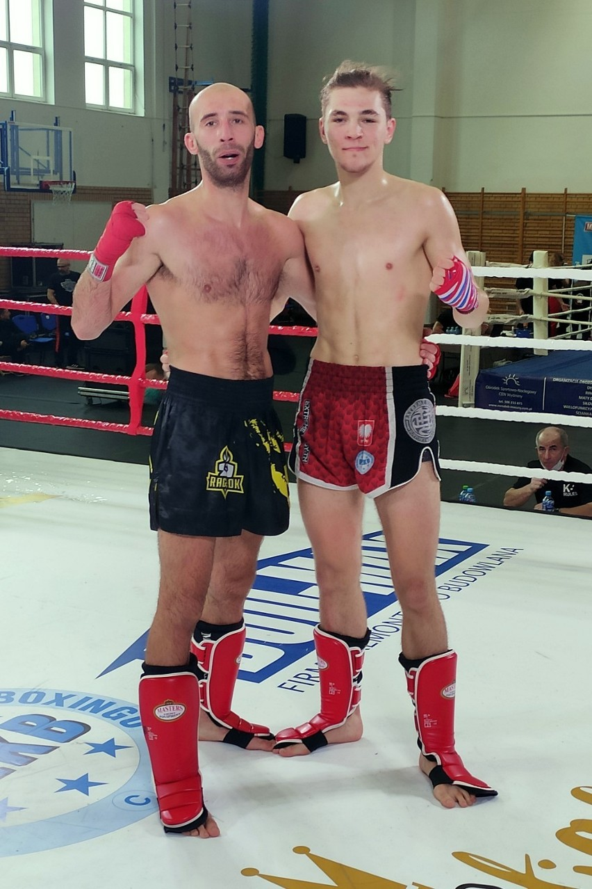 Dawid Siek (z prawej) wywalczył srebrny medal