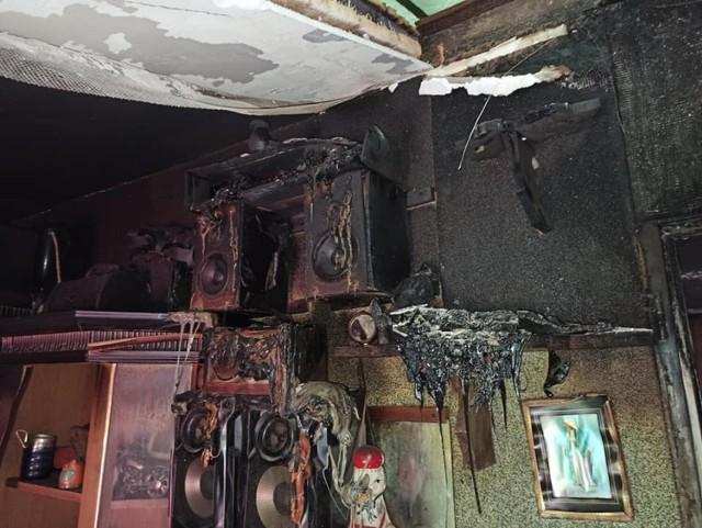 Pożar w Nowej Wsi w gminie Przechlewo