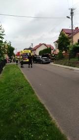 Wypadek samochodowy w Tuczempach koło Jarosławia. Zderzyły się dwa samochody