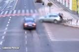 Tak doszło do wypadku na ul. Bohaterów Westerplatte. Policja publikuje nagranie