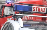 Pożar na Załęskiej Hałdzie w Katowicach. Trzy osoby trafiły do szpitala