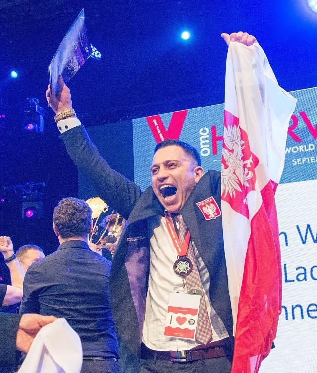 Tomasz Sobocik z Pawłowic - mistrzem świata we fryzjerstwie męskim