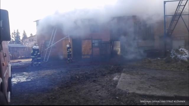Pożar budynku gospodarczego w Liskowie