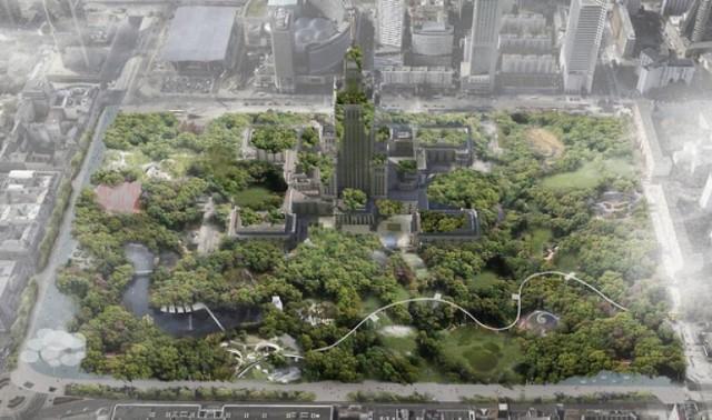 Central Park w Warszawie? Niezwykła koncepcja zagospodarowania centrum miasta [WIZUALIZACJE]
