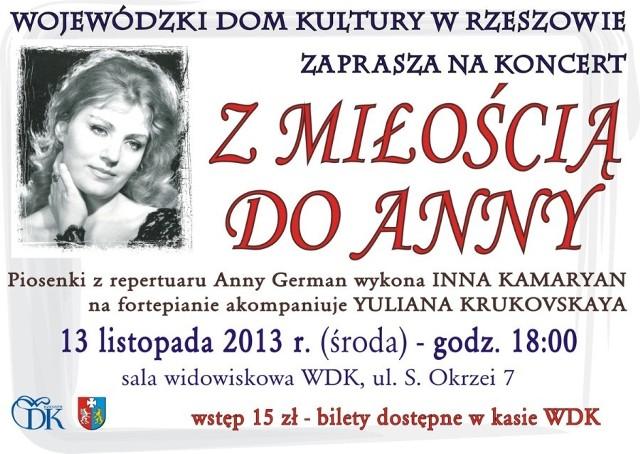 Koncert z repertuaru Anny German