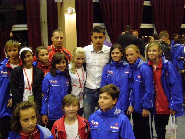 Dziewczęta spotkały m.in. Ariela Borysiuka