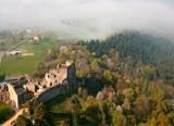 Widoki z ruin zamku Kamieniec w Odrzykoniu