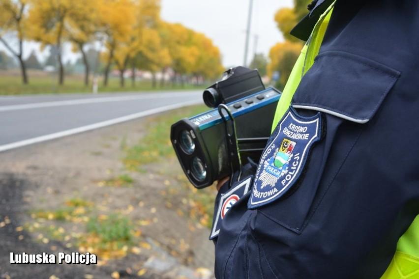 W Dąbiu, policjanci Wydziału Ruchu Drogowego krośnieńskiej...